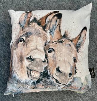Happy Days donkey cushion by Kay Johns