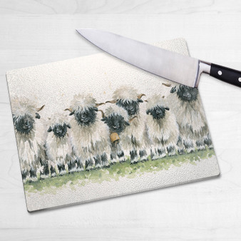 Glass chopping board- Lily of the Valais