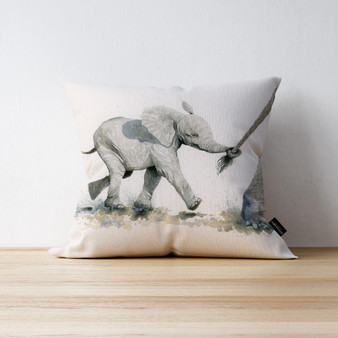 Pull the Other One Elephant cushion. Artwork by Kay Johns