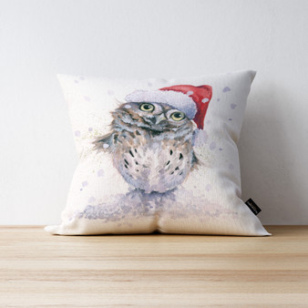 Stay Cool Little Owl cushion. Artwork by Kay Johns