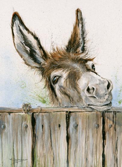 Donkey painting by Kay Johns
