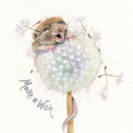 Mouse greeting card by Kay Johns - front view