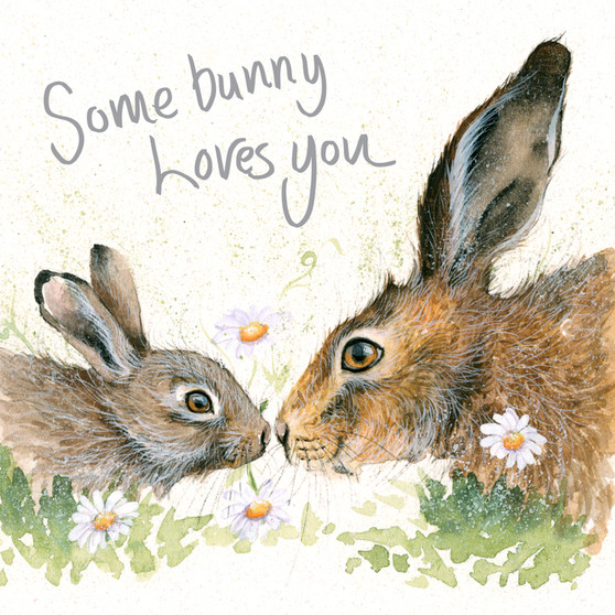 Hare greeting card by Kay Johns - front view
