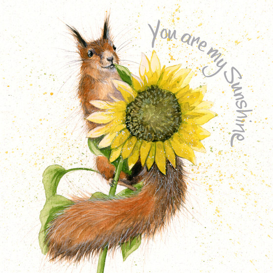 You are my Sunshine - Red Squirrel card by Kay Johns - front view