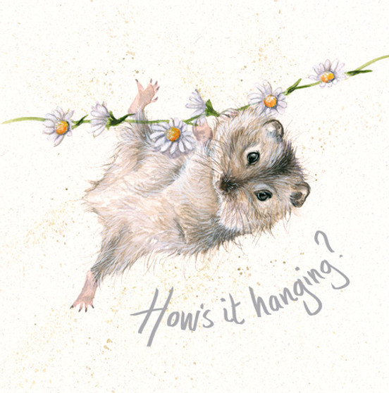 Daisy Chain - Red Squirrel card by Kay Johns - front view