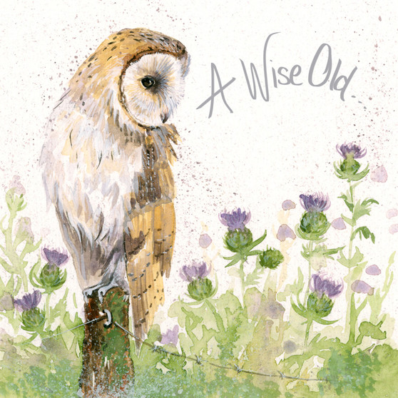 A Wise Old...- Owl card by Kay Johns - front view