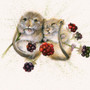 Chuckle Berries dormice or mouse artwork by Kay Johns