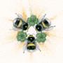 Original Bumble bee artwork by Kay Johns