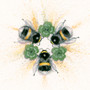 Bumble bee artwork by Kay Johns