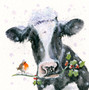 Jolly Holly Day's - Hand Embellished cattle artwork by Kay Johns