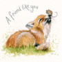 Fox and mouse greeting card by Kay Johns - front view
