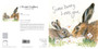 Hare greeting card by Kay Johns - front & rear view
