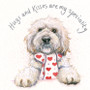Cockapoo greeting card by Kay Johns - front view