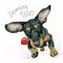 Dachshund greeting card by Kay Johns - front view