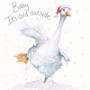 'Baby it's Cold Outside' Duck Christmas  card by Kay Johns - front image