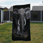 Towel - Heart of Africa. African elephant. Artwork by Kay Johns