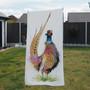 Towel - Romeo. Male pheasant. artwork by Kay Johns