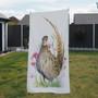 Towel - Juliet. female pheasant. artwork by Kay Johns