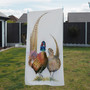 Towel - Me Lord Me Lady. male and female pheasant. Artwork by Kay Johns