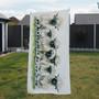 Towel - Lily of the Valais. Black nose Valais sheep. Artwork by Kay Johns