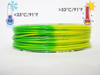 Temperature Color Changing Green to Yellow PLA 3D Printing Filament 225g