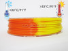 Temperature Color Changing Orange to Yellow PLA 3D Printing Filament 225g