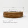 Gold Flake Glitter 3D Printing PLA Filament 225g