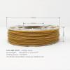 Orange Gold Flake 3D Printing PLA Filament 225g