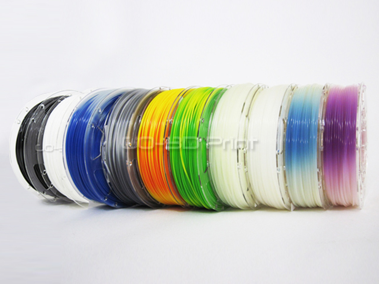 Temperature Color Changing Green to Yellow PLA 3D Printing Filament 1.75mm 225g