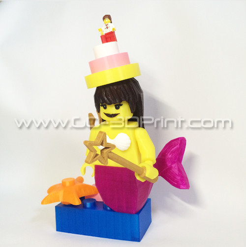 Lego Giant Mermaid Mini Figure W Birthday Hat
