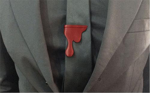 Blood Drip Tie Clip