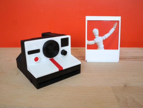 Miniature Polaroid Camera with Instagram Picture Frame