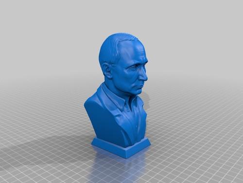 Vladimir Putin bust - no tie
