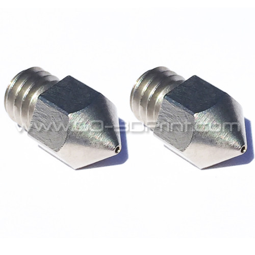 Micro Swiss High Lubricity Wear Resistant Nozzle Upgrade MK8 0.4 mm (2 pcs)