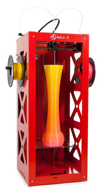 Big Builder Dual-Feed Extruder Mixing Color 3D Printer (Red)