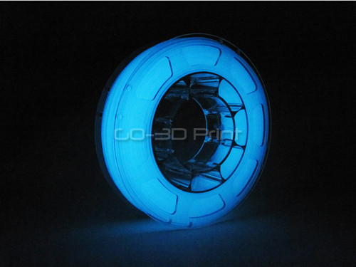 Glow in the Dark Blue PLA 3D Printing Filament 225g