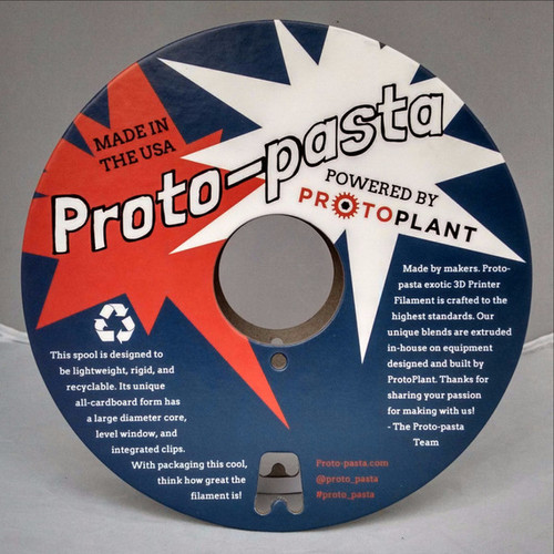 Proto-Pasta Polishable Stainless Steel PLA 3D Printing Filament 1.75mm (500 g)