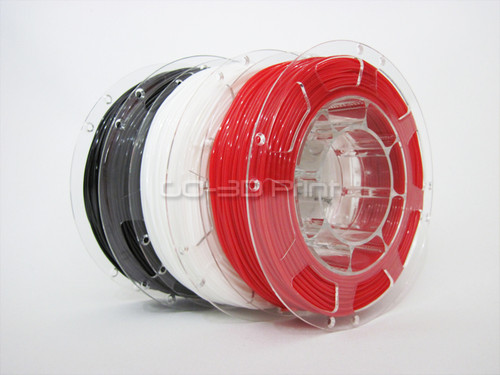 Black/White/Red Flexible TPE 3D Printing Filament Value Pack 3x 200g