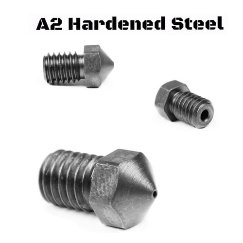 A2 Hardened Steel RepRap M6 Thread 1.75mm Filament Nozzle