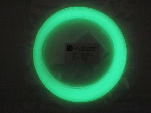 Glow in the Dark Green PLA 3D Printing Filament 1.75mm, 50g
