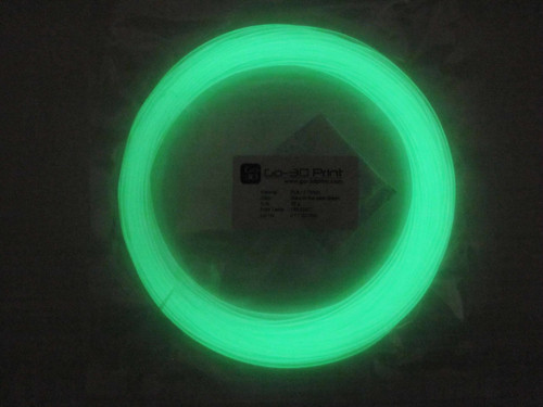 Glow in the Dark Green PLA 3D Printing Filament 1.75mm, 50g