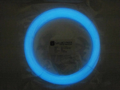 Glow in the Dark Blue PLA 3D Printing Filament 1.75mm, 50g