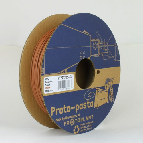 Proto-Pasta Copper Metal Composite HTPLA 3D Printing Filament 1.75mm 500G