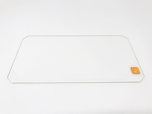 130mm x 250mm Borosilicate Glass Plate w/ corner cut for MP Mini Select Extended Bed