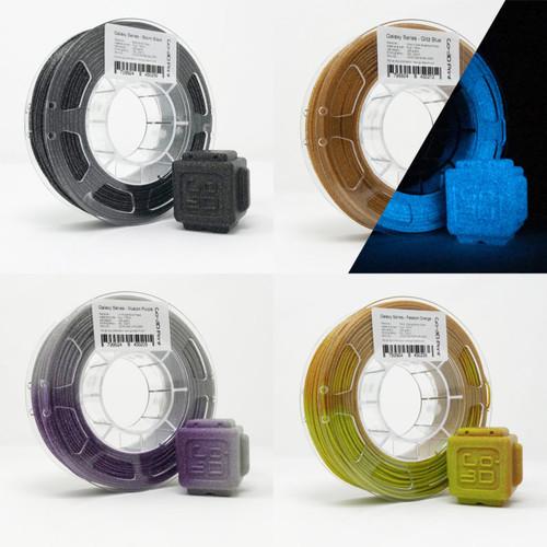 Silver / Gold Flake Color Change Value Set 3D Printing PLA Filament 4pcs