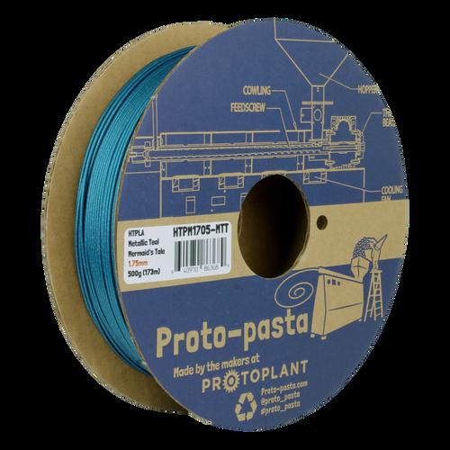 Proto-Pasta Metallic HTPLA - Mermaid's Tale Teal 3D Printing Filament 1.75mm (500 g)