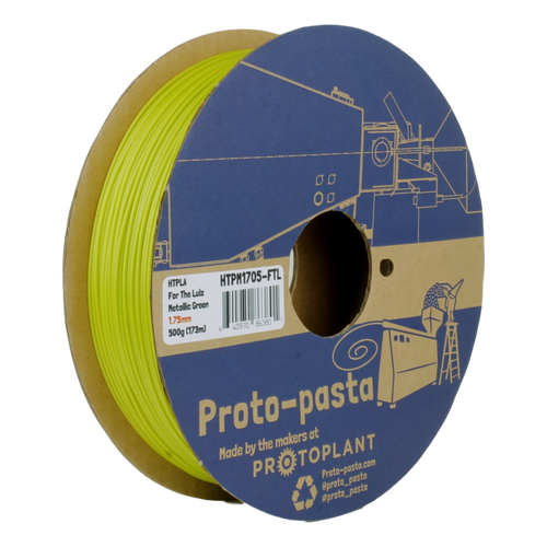Proto-Pasta Metallic HTPLA - For the Lulz Metallic Green 3D Printing Filament 1.75mm (500 g)