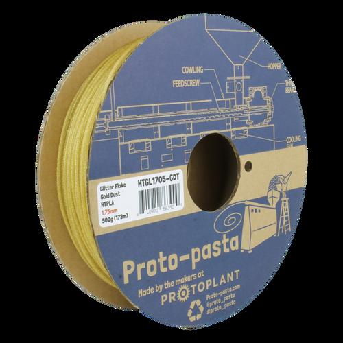 Proto-Pasta Glitter Flake HTPLA - Gold Dust 3D Printing Filament 1.75mm (500 g)