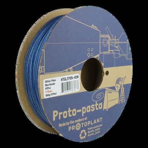 Proto-Pasta Glitter Flake HTPLA - Wonder Blue 3D Printing Filament 1.75mm (500 g)