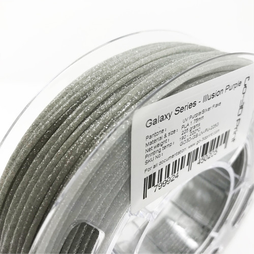 Silver Flake Glitter 3D Printing PLA Filament 225g
